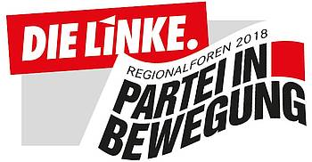 Grafik mit Text: DIE LINKE. Regionalforen 2018 –