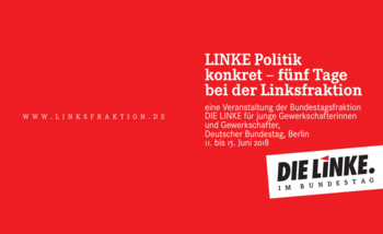 "Flyer ""Linke Politik konkret"""