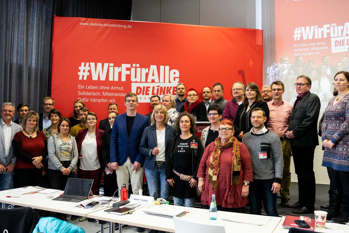 Gruppenbild der Kandidat*innen Landesliste für die Landtagswahl 2019